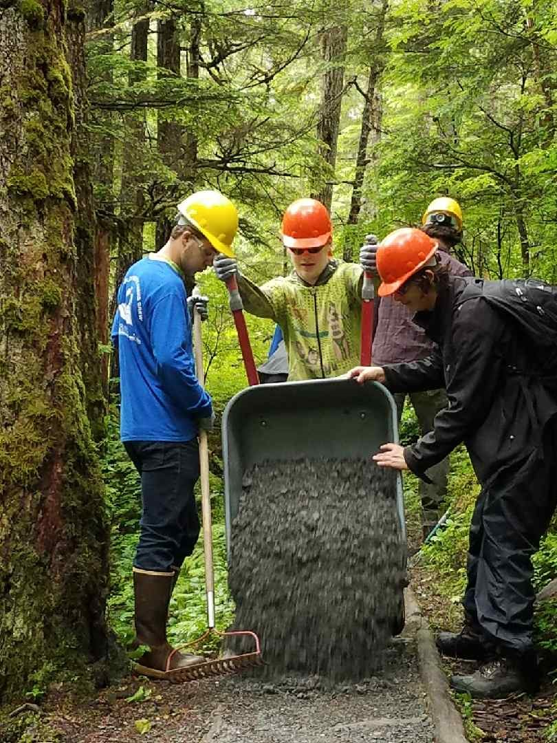 The Youth Employment in the Parks Project in Juneau gave students the opportunity to work alongside the Parks Department